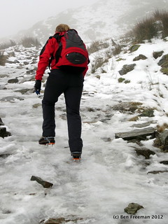 Icy path up to Old Man of Coniston | by brf