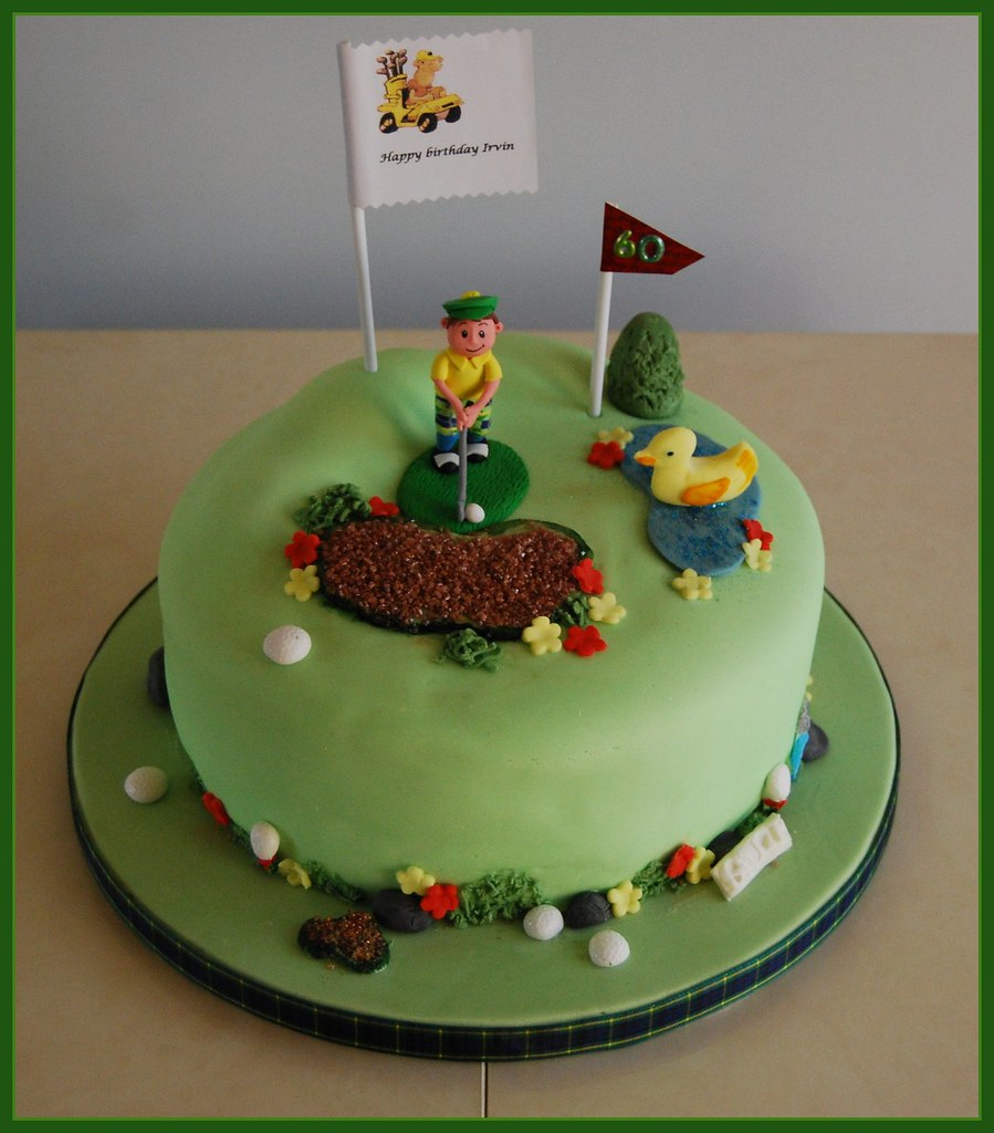Enjoyable Golf Birthday Cake Golf Fanatic Birthday Cake May I Pay Ho Flickr Birthday Cards Printable Opercafe Filternl