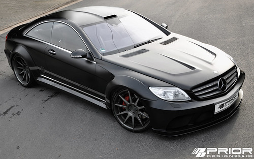 Mercedes-Benz CL [W216] PD-Black Edition Black Series Widebody PRIOR-DESIGN Aerodynamic-Kit, Front bumper, vented hood, rear bumper and rear diffuser, front lip, trunk spoiler and exhaust tips. CL63 CL65 AMG.  Like SL65 Black Series | by Prior Design NA (priordesignusa.com)