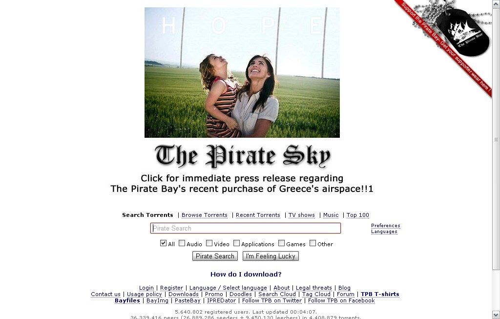 Download music, movies, games, software! The Pirate Bay - … | Flickr