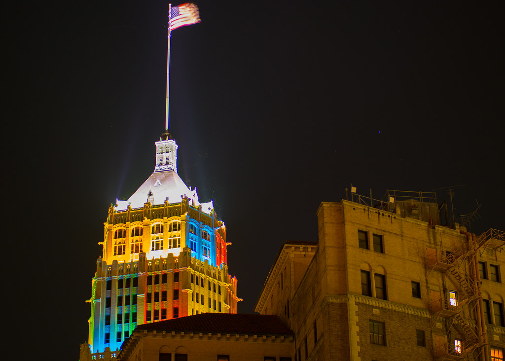 Tower Life Building During Fiesta in Downtown San Antonio