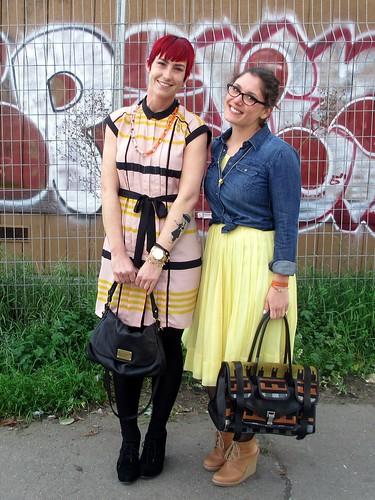 Seen Style: Santina & Jenn in Spring Colors   by kate à la mode