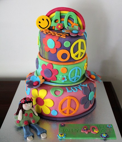 40th Birthday 'Hippy' Cake | by Bella Bambini Birthdays2011