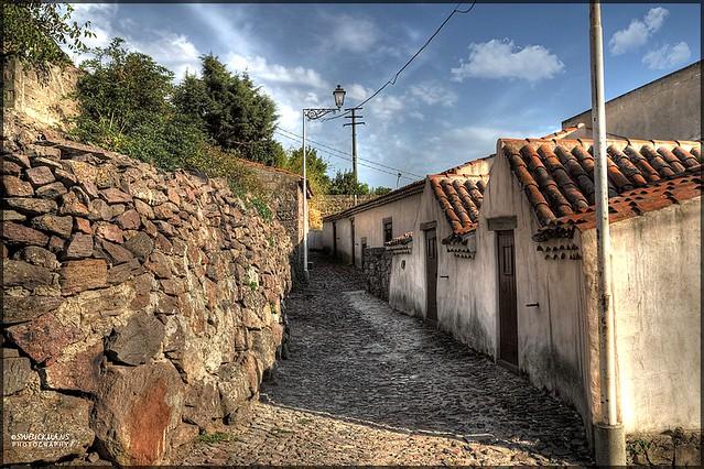 Typical village of Sardinia (Italy)