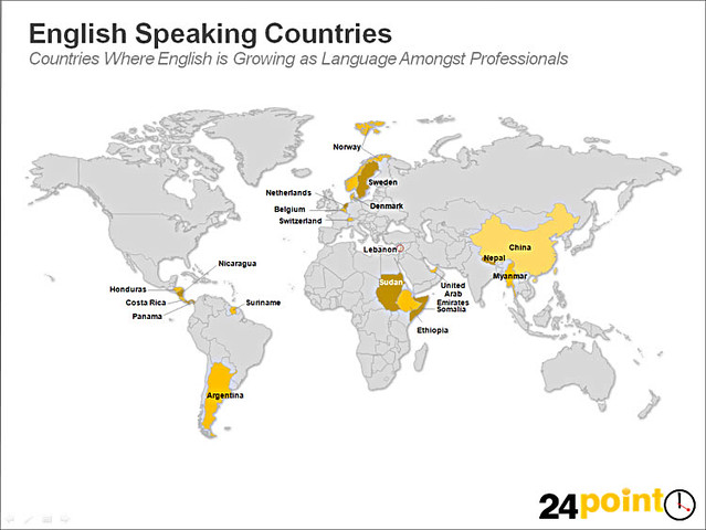 World Map - English Speaking Countries   Countries where Eng ...