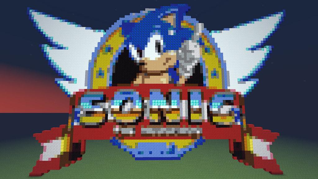 Minecraft Sonic Pixel Art More Minecraft Pixel Art Flickr