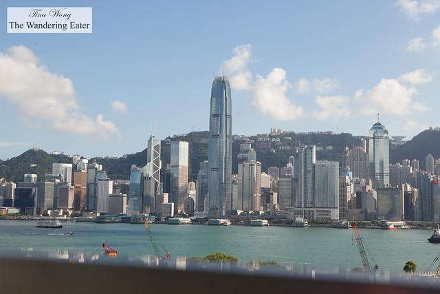 View of Central Hong Kong from the main entrance of Ritz Carlton Hong Kong