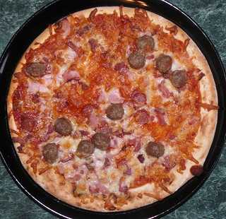 Tesco Stonebaked Meat Feast Bbq Pizza Not Bad For 150