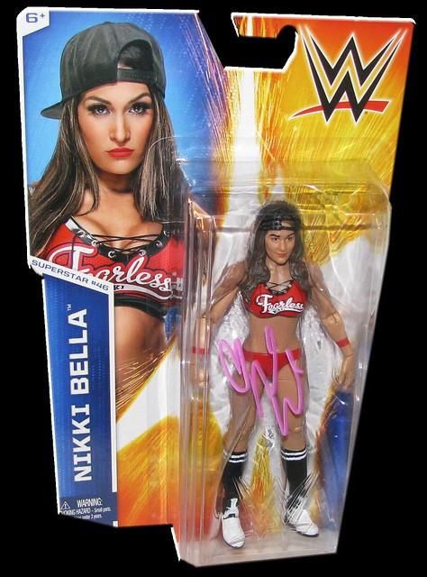Nikki Bella Autographed WWE Basic Mattel Series 52 Figure