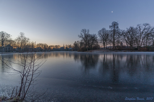 moat ice water frozen landscape schoonhoven netherlands church sunrise cold sky town springerpark