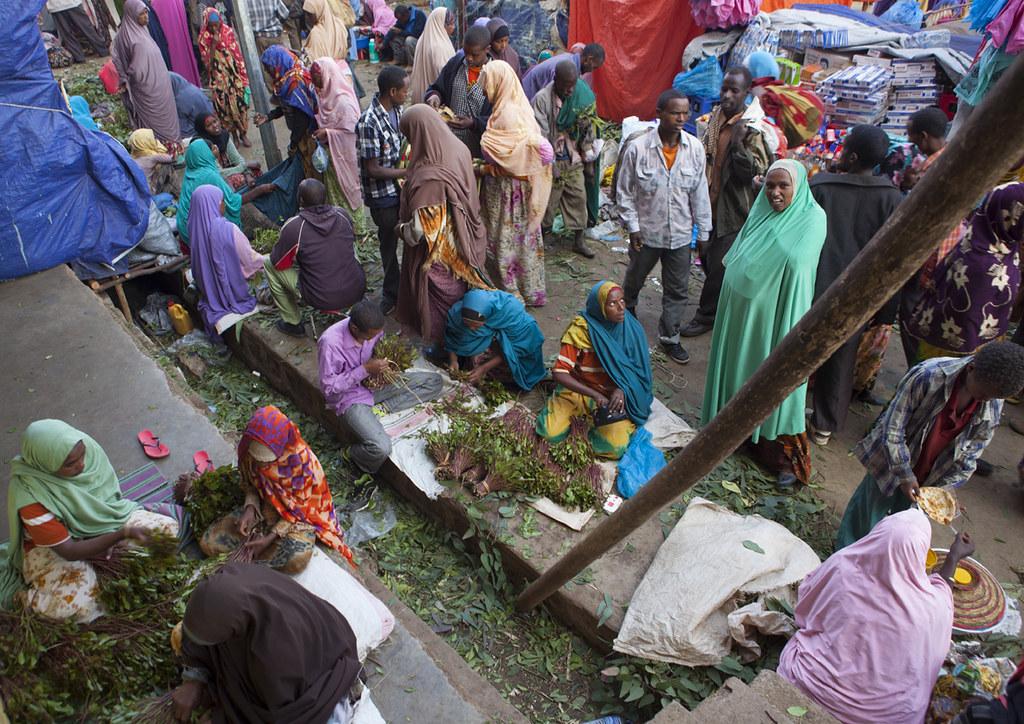 Awaday Khat market seller - Ethiopia | Few kilometers from H