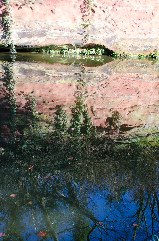 Reflections on an artificial cliff