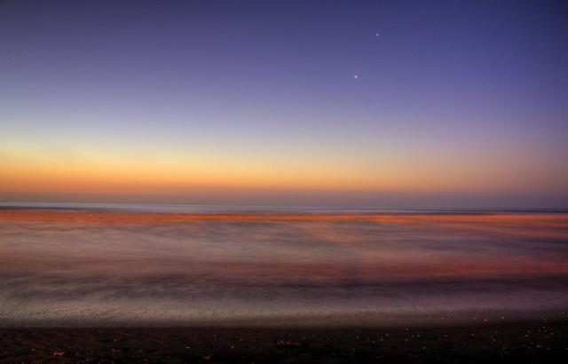 Playa Peñuelas (beach) at sunset, La Serena, Coquimbo Region, Chile 3