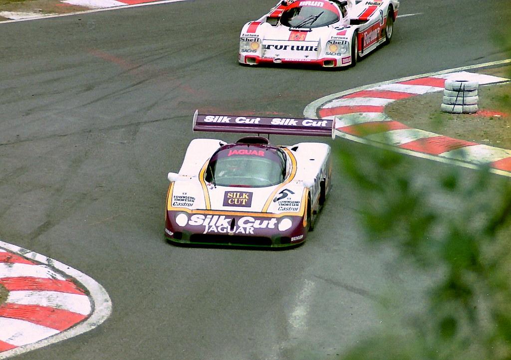 Jaguar XJR-8 - Jan Lammers & John Watson leads the Porsche ...