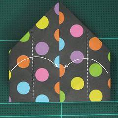 การพับกระดาษเป็นถุงใส่ขนมแบบญี่ปุ่น (Origami Sambo) 009