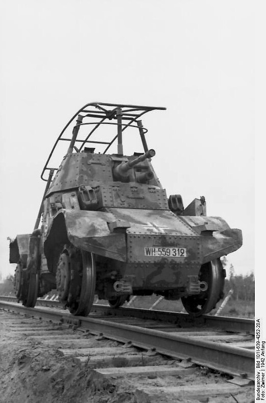 A French Panhard armoured car
