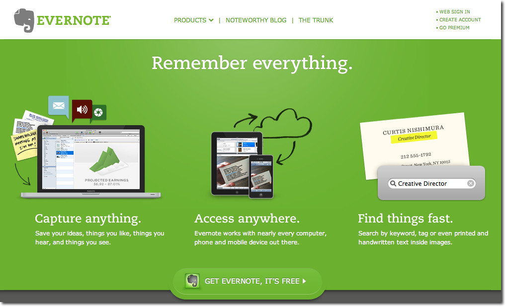 Evernote, une solution numérique pour tout enregistrer
