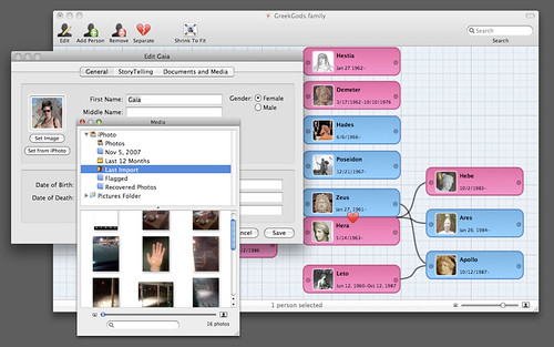 Family Screenshot - Grid and Photo Management | by genealogysoftware