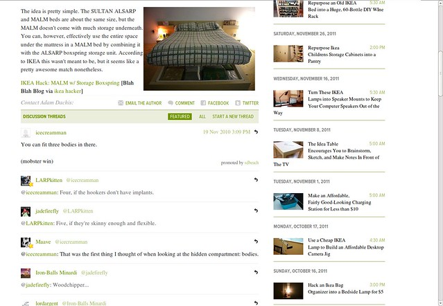Featured on Lifehacker (bottom)