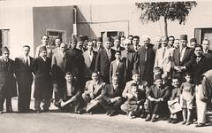 وداعه في مطار القاهرة - 2 نيسان 1954