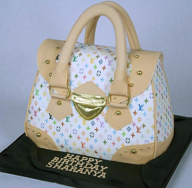 louis v purse cake toronto