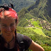 Spidey and I enjoying the view of the ruins from Machu Picchu Mountain trail, Peru 02APR12