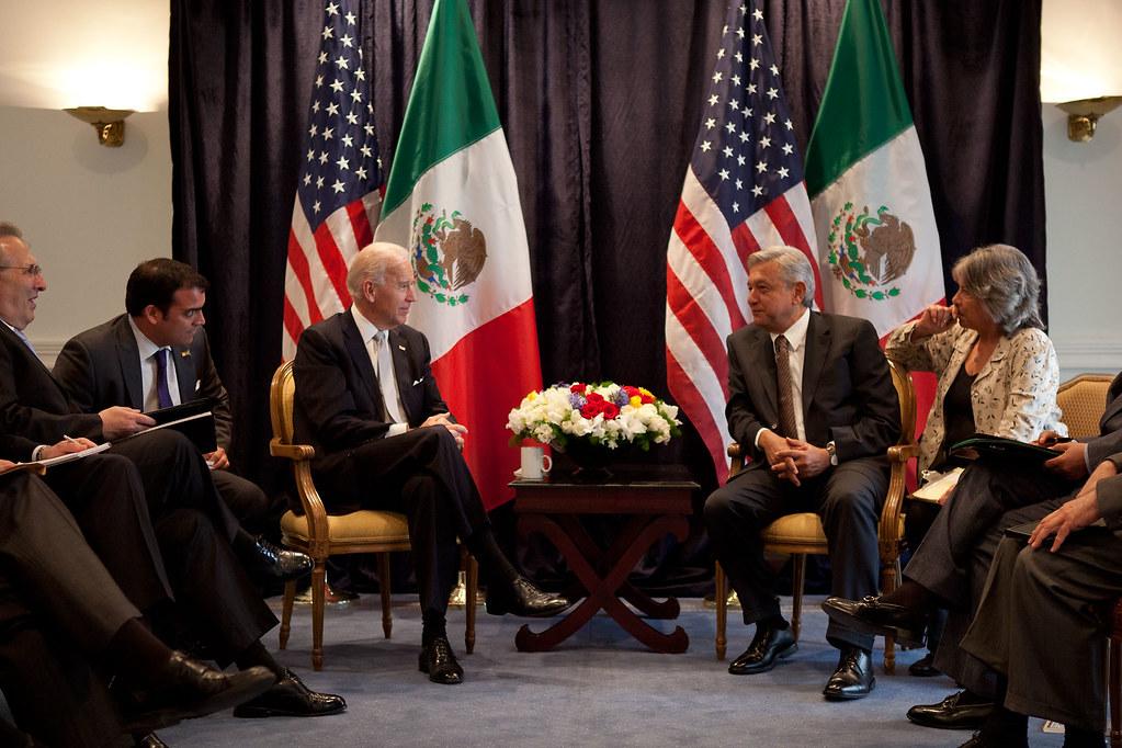 Joe Biden con Andres Manuel Lopez Obrador