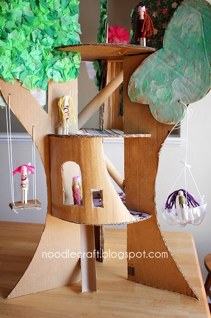 Cardboard Treehouse Inspired By A Family Fun Craft Family Flickr