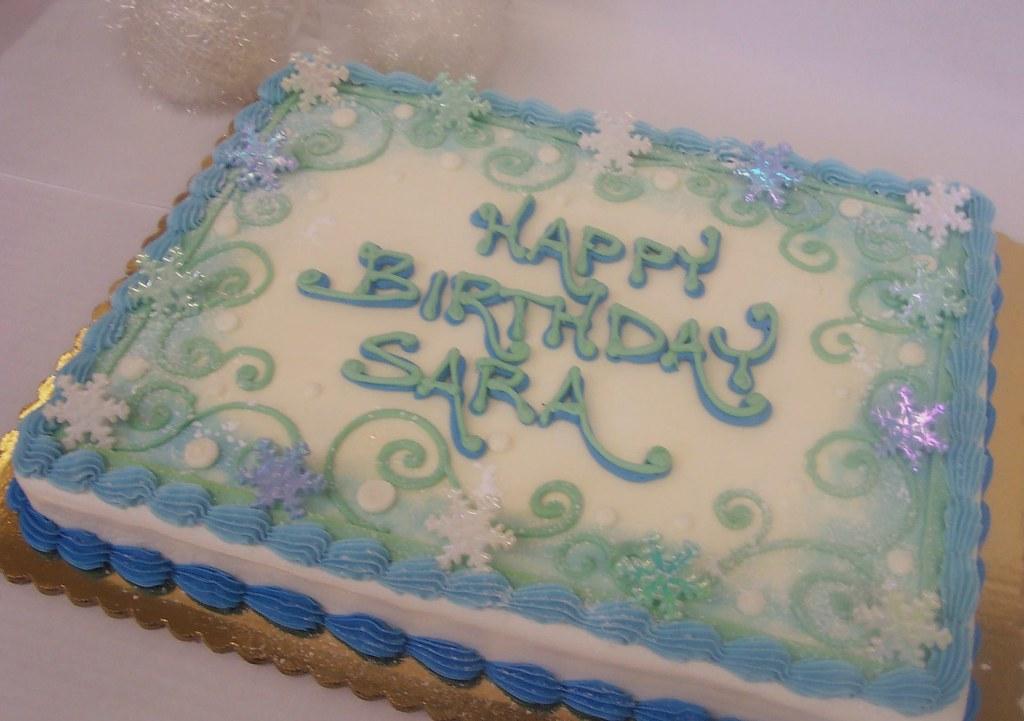 Stupendous Winter Birthday Cake Ashleys Pastry Shop Flickr Funny Birthday Cards Online Eattedamsfinfo