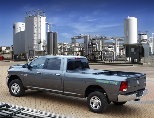 2012 Ram 2500 Heavy Duty CNG with bi-fuel capability—powered by compressed natural gas or gasoline. Photo