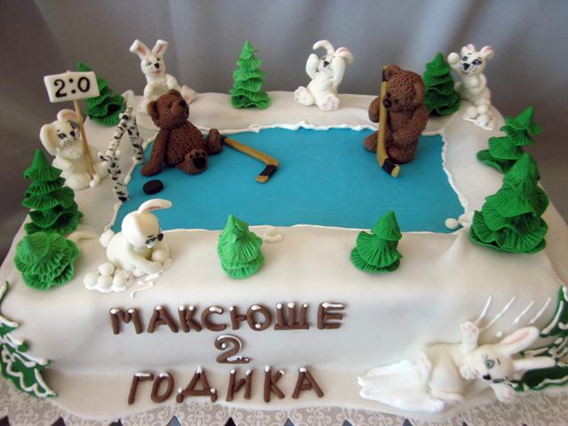 Miraculous Hockey Birthday Cake Lyudmila Ivanova Flickr Personalised Birthday Cards Cominlily Jamesorg