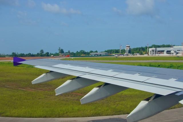 Thai Airways Airbus A300 just landed at Krabi International Airport, Thailand