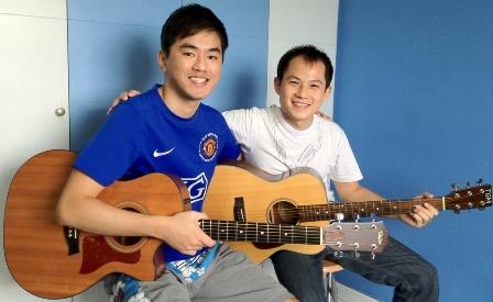 1 to 1 guitar lessons Singapore Bernard