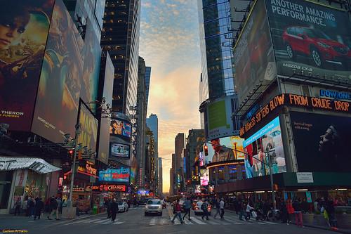 newyork estadosunidos américa viajar travel carlosarriero sunset atardecer timessquare nuevayork nikon d800e tamron 2470mm cityscape landscape paisaje city ciudad people gente personas urban urbana street calle urbano color colors colour usa ny