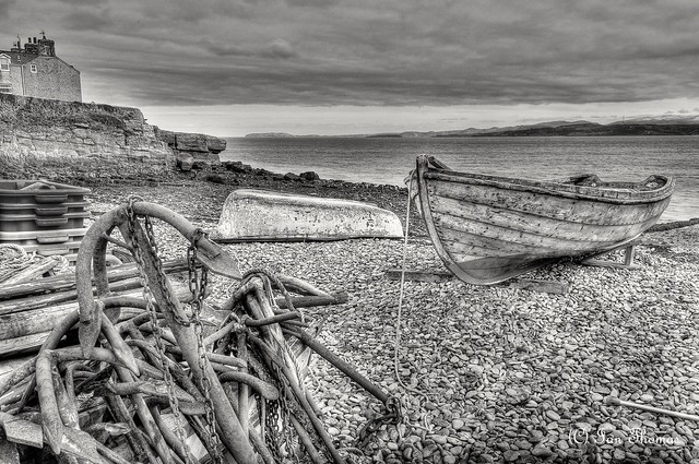Anchors Galore At Moelfre Beach .. Anglesey