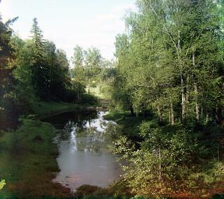 Prokudin-Gorskii Trichrome Composite River Inlet