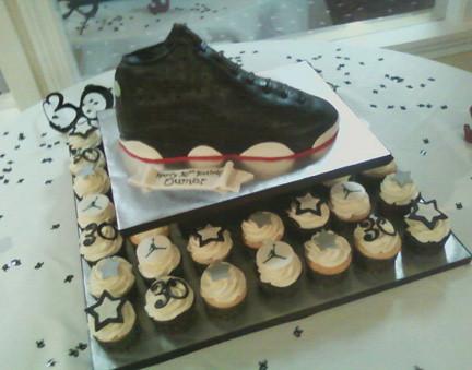sale retailer bc665 c551e ... Michael Jordan Sneaker cake   cupcakes   by Sweet Maddie Lee Cake  Design- Becky