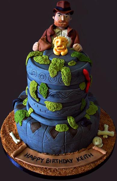 Brilliant Indiana Jones Birthday Cake 30Th Birthday Cake For Keith W Flickr Funny Birthday Cards Online Inifodamsfinfo