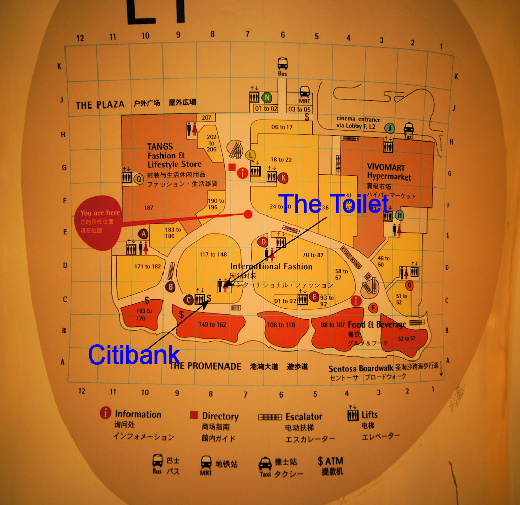 Vivocity map showing gunshot toilet and Citibank | Icemoon ... on coca-cola map, nike map, united airlines map, home depot map, bb&t map, citigroup branches map, everbank map,