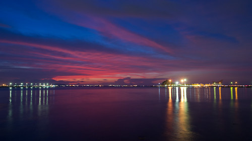 light sunset sea sky nature night thailand nikon dusk d3 chonburi siracha totallythailand