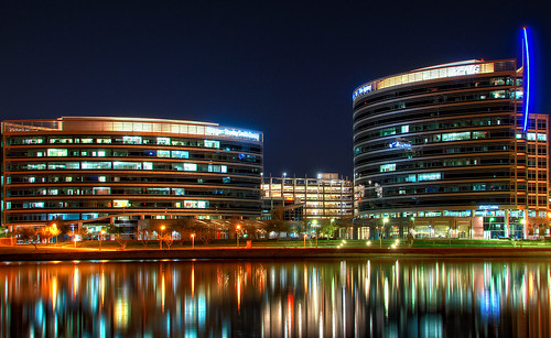 arizona lake reflection night nightshot halo nightsky hdr tempe tempetownlake smithbarney morganstanley