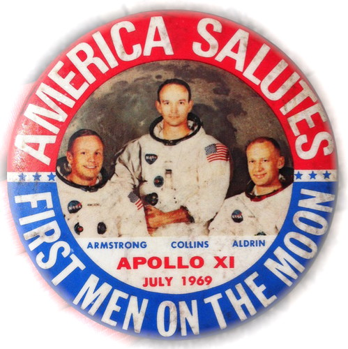 My Original Apollo 11 Mission Button Pin  (1969) | by Charles Atkeison
