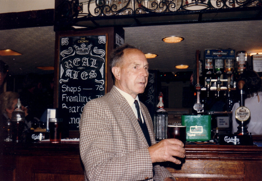 Charlie Bridger, at a session in The Crown, Stone-in-Oxney, Kent. c.1985