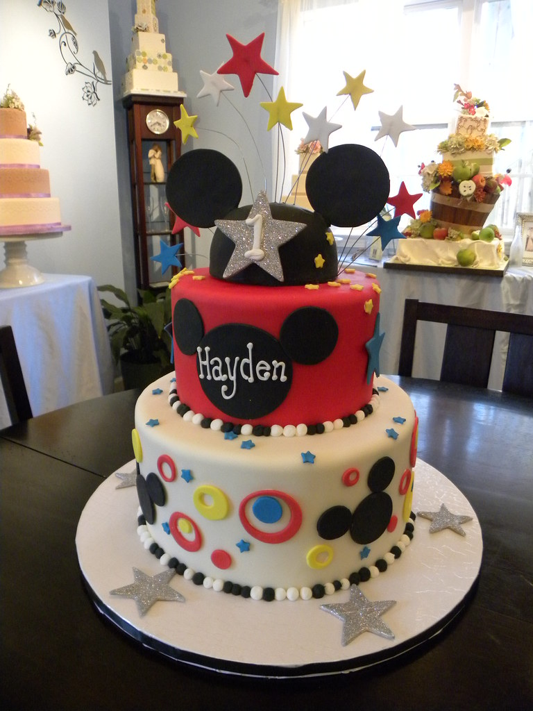 Peachy Mickey Mouse Clubhouse Cake Cute 1St Birthday Cake Micket Flickr Funny Birthday Cards Online Elaedamsfinfo