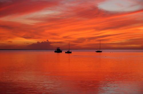 Hawaii Sunset over the Ocean, Molokai Harbor Rose Braverman | by Rose Braverman