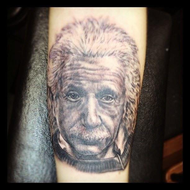 Albert Einstein Tattoo Independent Tattoo Flickr
