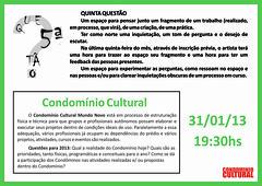 5.ª Questão Condomínio Cultural - 31-01-2013