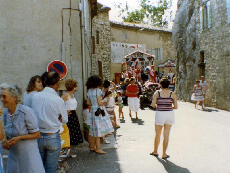 1989 : Défilé de chars