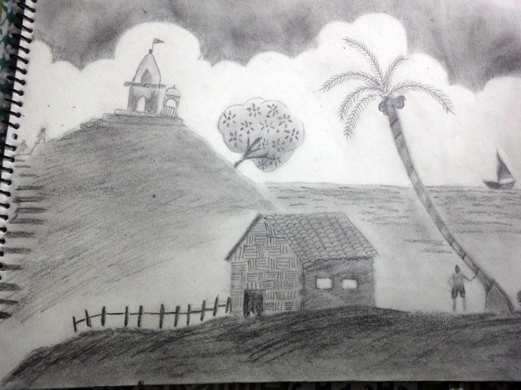Pencil shading landscape by shreeyasharma pencil shading landscape by shreeyasharma