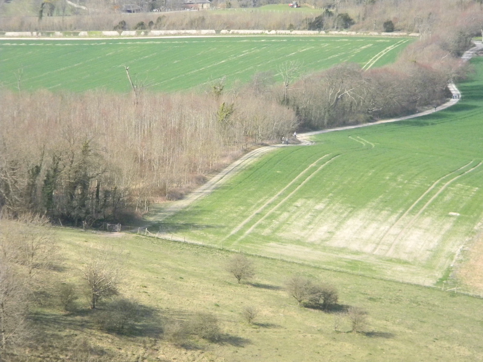 Looking down from up on the downs If you look closely, you can just make out some of the slower walkers on their way up. Lewes Circular via West Firle